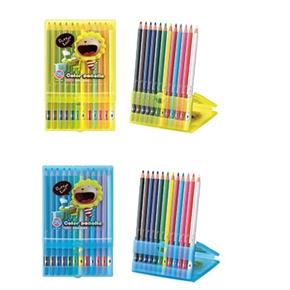 奶油獅 珠光塑盒12色色筆