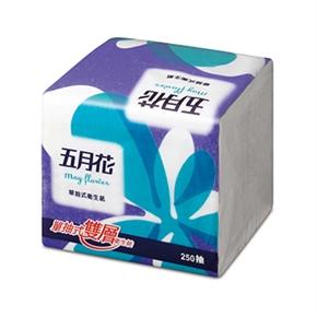 五月花 單抽式衛生紙 (250抽一包)