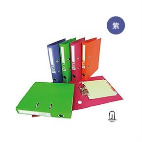 同春F66450S繽紛布紋二孔孔型夾(紫)(12入1箱)