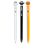 SKB G-2507 萬聖節造型中性筆-3支入