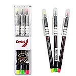 Pentel S512-3螢光筆3色組