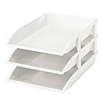 樹德 OA-2736 組合式三層公文盒(白色)(收納用品)