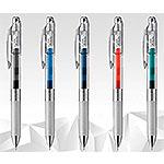 Pentel飛龍 BLN75TL-S3極速鋼珠筆-藍綠色/透明桿